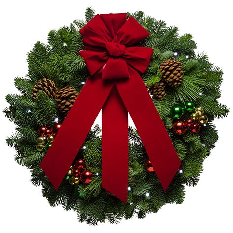 transparent christmas wreath  red bow png picture