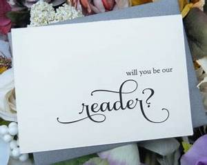 will you marry us card officiant card will you be my With gifts for readers at wedding
