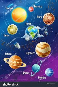 Solar System Planets Vector Illustration Vertical Stock ...