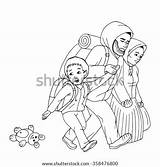 Refugee Refugees Immigrant Coloring Pages Little Boy Drawn Sketch Template Mother Hand Pic sketch template