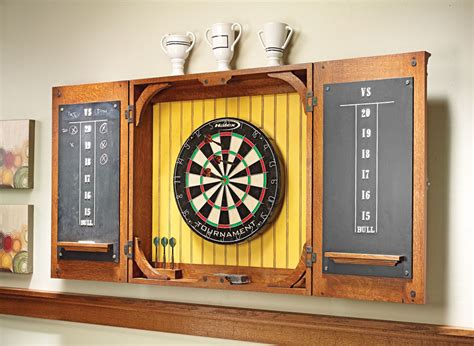 Dartboard Cabinets dartboard cabinet woodworking project woodsmith plans