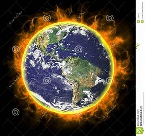 Real Earth Planet In Yellow Sun Stock Image - Image: 17350733