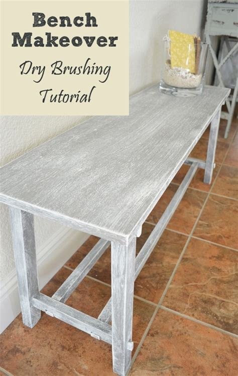 painted furniture ideas bench makeover dry brushing