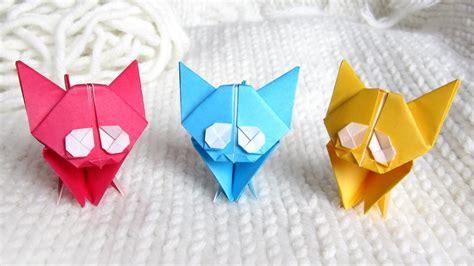 cute origami kitten cat easy tutorial  instructions