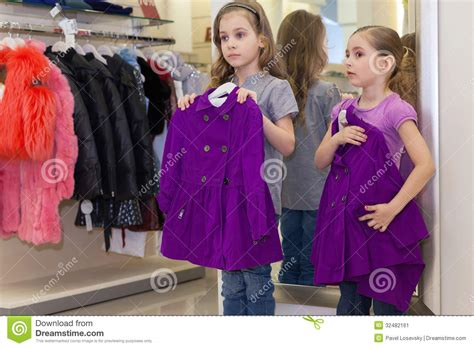 cute girls   mirror   clothes stock