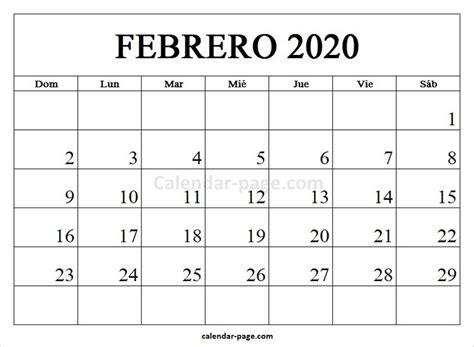 febrero calendario calendario en es