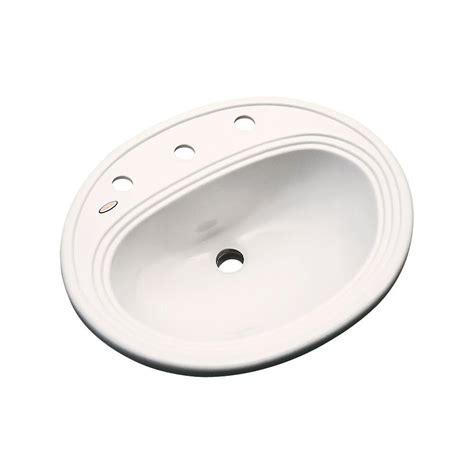 bone colored bathroom sinks summit drop in bathroom sink in bone beigethermocast