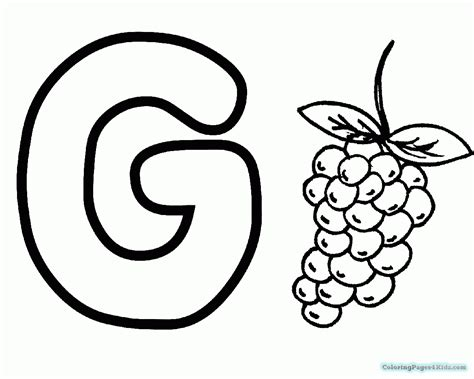 Coloring Letter G by Letter G Coloring Pages Coloring Pages For