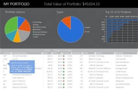financial portfolio template personal financial