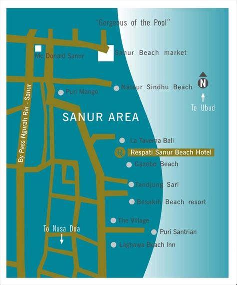 sanur tourist map sanur mappery