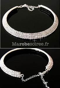 collier ras de cou argente avec 3 rangs de strass parrure With robe pour mariage cette combinaison collier homme argent