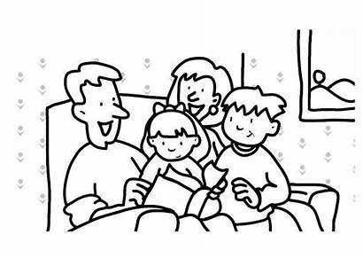 Living Coloring Familie Ausmalen Ausmalbilder Familienbilder Template