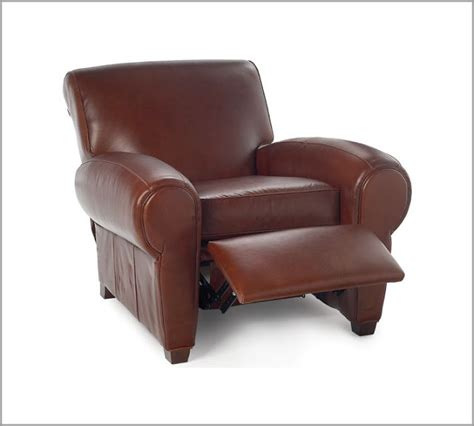 pottery barn manhattan leather recliner copy cat chic
