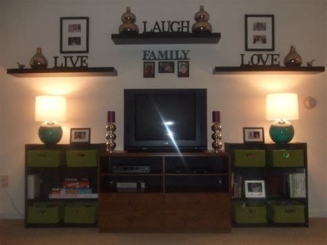 Shelves And Picture Placement On Tv Wall Redoing Brick Fireplace Tile Hearth Unique Fireplaces Table Top Stone Ideas Carved Mantel Lowes Entertainment Center Electrical