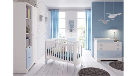 Chambre De Garcon Bebe Chambre B 233 B 233 Gar 231 On Compl 232 Te Gioco Blanc Et Bleu