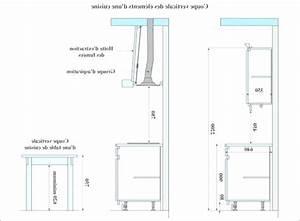 hauteur standard plan de travail cuisine dcoration With profondeur plan de travail cuisine