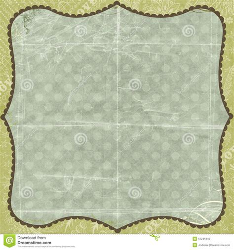 green floral love background scrapbook paper stock photo