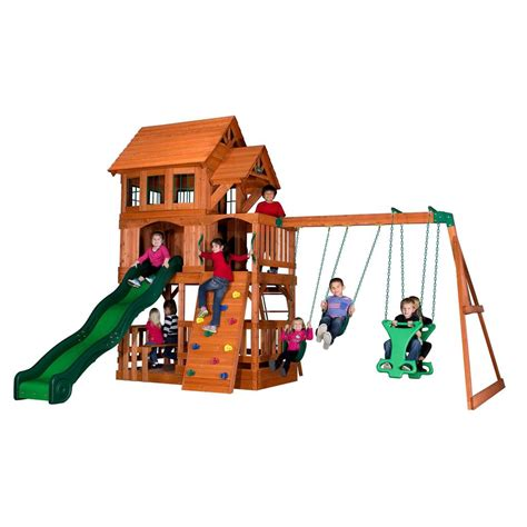 liberty swing liberty ii wooden swing set