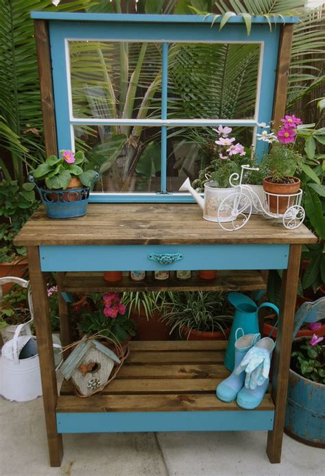 Vintage Window Potting Table  Sold  Home And Garden
