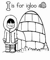 Igloo Coloring Eskimo Drawing Pages Printable Clipartmag Template Getdrawings Getcolorings sketch template