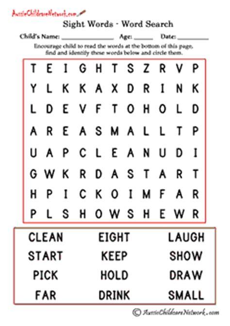 third grade sight word search aussie childcare network