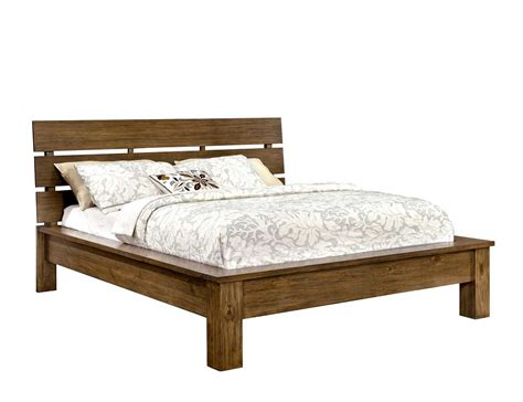 Platform Beds : Platform Bed In Rustic Finish Fa51