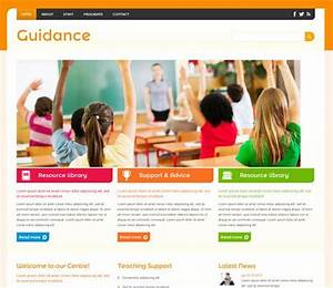 guidance a education mobile website template free With html education templates free download