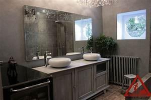 salle de bain beton cire With beton mural salle de bain