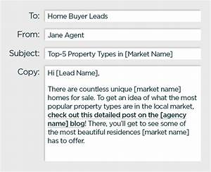 Drip emails for your real estate email marketing for Real estate email drip letters