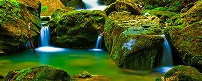 4k Nature Water Rocks River Ultrawide Monitor