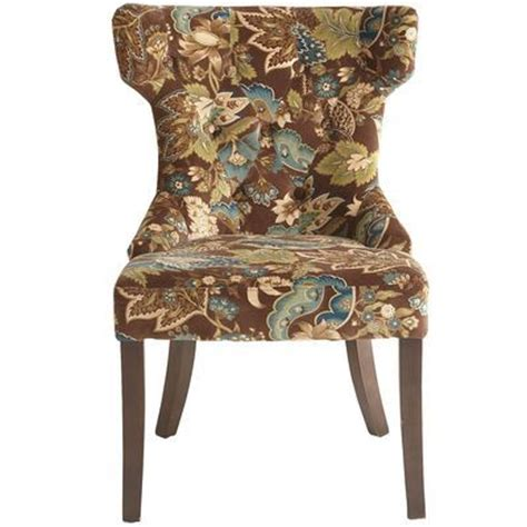 hourglass dining chair peacock floral the world s catalog of ideas