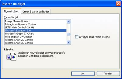 microsoft equation diteur