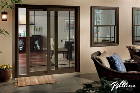 pella 174 350 series sliding patio door accents prairie style