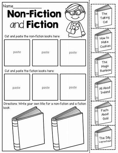 Fiction Nonfiction Books Activities Cut Non Worksheets