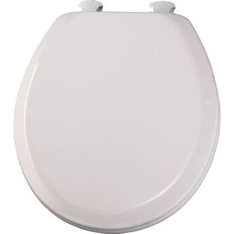 BEMIS Lift-Off Round Closed Front Toilet Seat in White ...