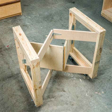 saturday morning workshop folding mobile workbench