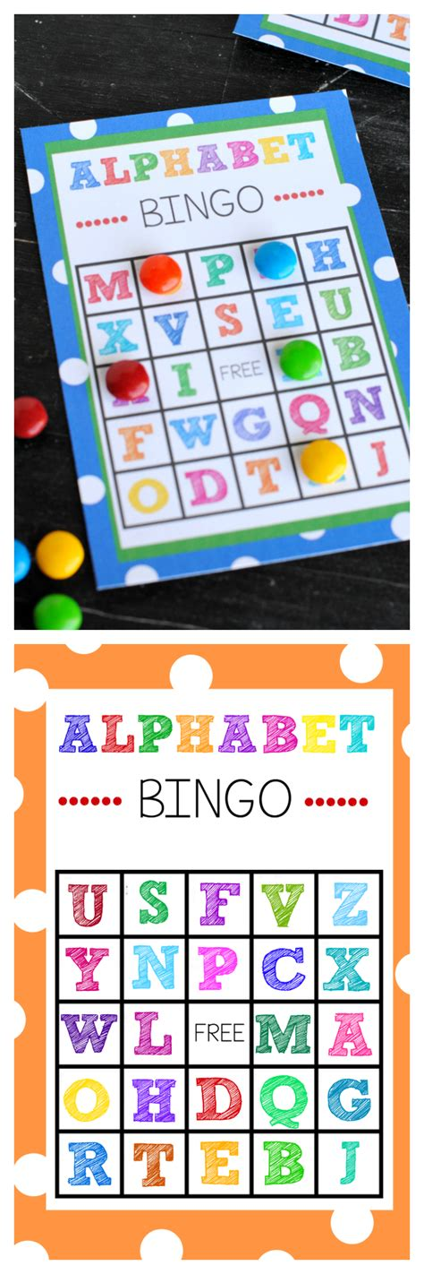 printable alphabet bingo game  images