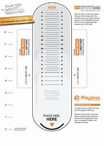 Payless Kids Foot Sizing Chart Printable Pdf Download