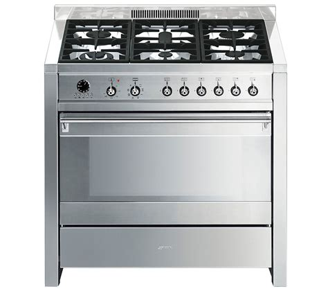 buy smeg opera 90 dual fuel range cooker stainless steel free delivery currys