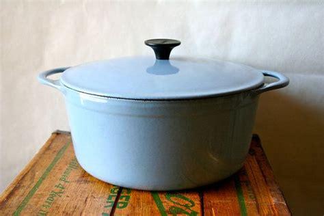 vintage cousances oven pan lecreuset le creuset 1950s blue sale was 100 ovens