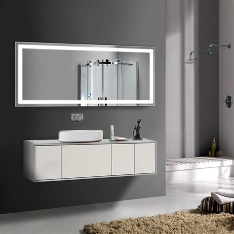 amazoncom     horizontal led bathroom silvered