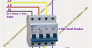 How To Wire 4 Pole Circuit Breaker For 3 Phase 4 Wire System