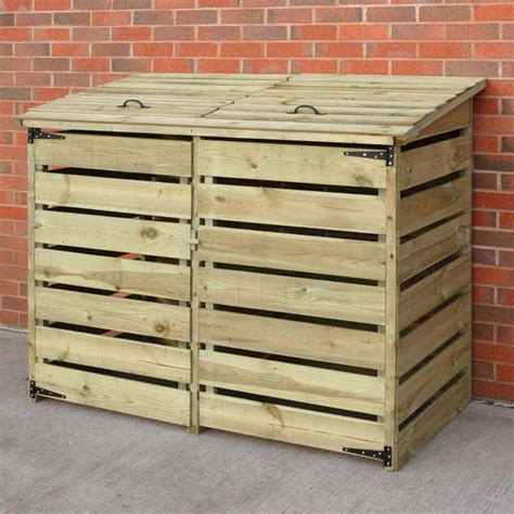 garbage bin storage shed best 25 garbage can shed ideas on trash can