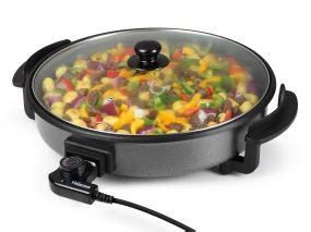 poele electrique cuisine tristar pz 2964 poêle avec couvercle 40 cm 1500 w amazon