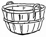 Basket Empty Coloring Apple Pages Easter Clipart Drawing Picnic Sheet Clip Clipartmag Tocolor Button Through sketch template