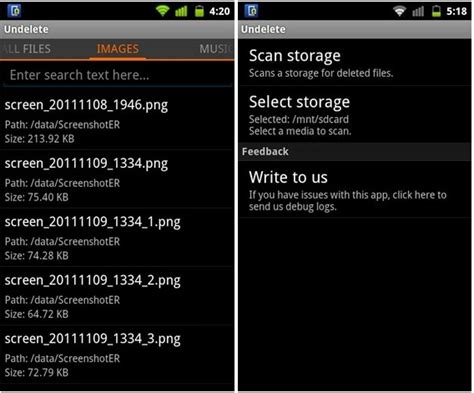 undelete android undelete recover deleted files on your android device