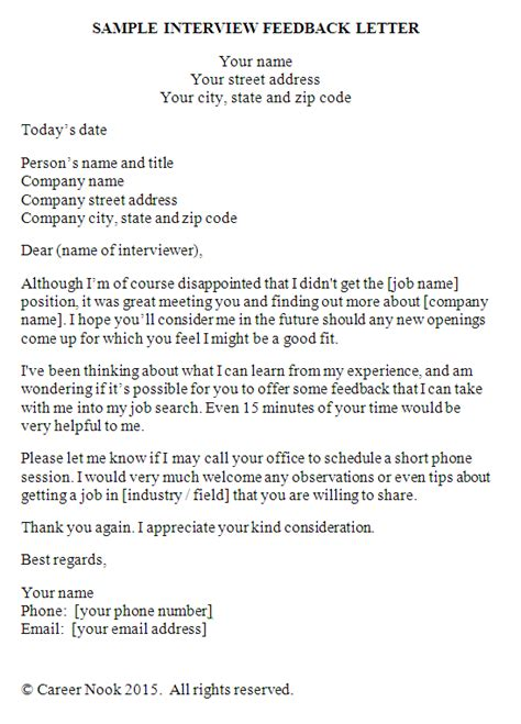 job search     feedback   job interview