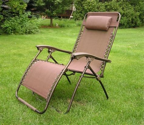 delux wide zero gravity lawn chair brown patio