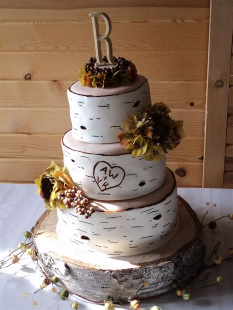Birch Tree Wedding Cake Wedding Pinterest Trees