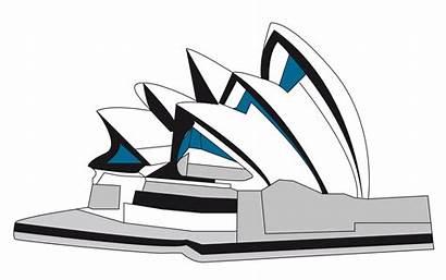 Opera Sydney Clipart Svg Landmarks Icons Transparent